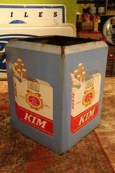 Kim Cigarette Enamel Square Sign
