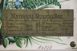 Antique Swiss National Cylinder Musical Box Playing 10 Tunes