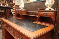Antique Walnut 11 Drawer Dickens Desk