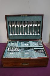 Joseph Rodgers + Son 81 pcs Silver Plated Canteen Of Cutlery #