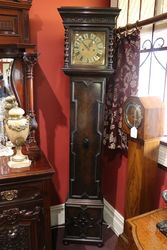 Early C20th Brass Face 8 Day Long Case Clock.#