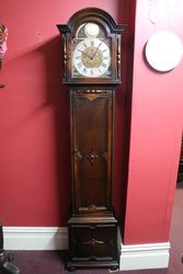 Early C20th Brass Arched Dial 3 Train Longcase Clock..#