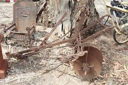 Antique W.G.Barger  Disc Cultivator Garden Sculpture.#