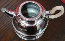 Art Deco Denlagh Chromium Teapot and Stand with Infuser