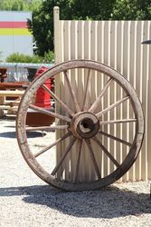 Buggy Wagon Wheel Wood Spokes Iron Rim Amish Carriage