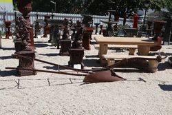 Antique Farm Equipment Cast Iron Plough. #