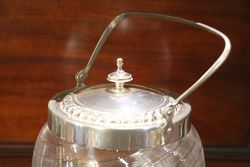 Glass + Plated Biscuit Barrel C1920