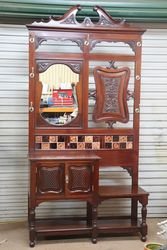 Lovely Quality Late Victorian Hall Stand .. #