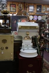 Antique white porcelain Dayton Money Weight Scale