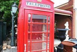 Large Cast Iron Phone Box
