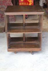 Antique Large Oak Revolving Bookcase