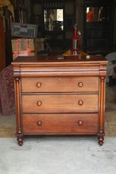 Antique Chanel Islands Mahogany Chest Of Drawers. #