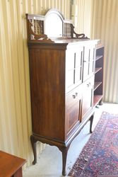 Antique Mirror Back Cabinet