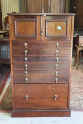 Antique Mahogany Dental Cabinet..#