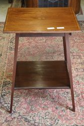 Antique Square Top Occasional Table . #