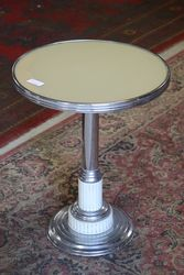 Art Deco Chrome Occasional Table.