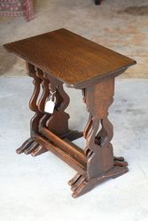 Early 20th Century Oak Nest Of 3 Tables