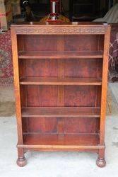 Early C20th Open Shelf Oak Bookcase. #