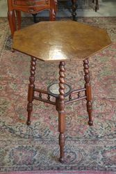 Edwardian Occasional Table on Barley Twist Legs. #
