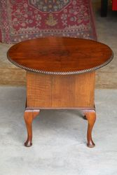 C20th  Round Walnut Sewing Table. #