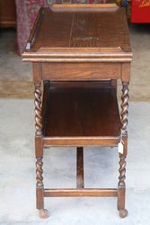 English Oak Tea Trolley Card Table C1925