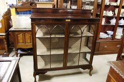 Early C20th English Mahogany Display Cabinet