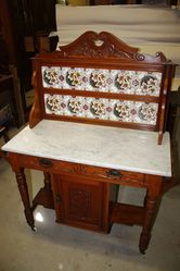 Australian Marble Top Cedar Washstand C1895