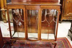 Bow Front 2 Door Display Cabinet