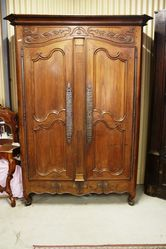 Early C19th Antique French 2 Door Armoire