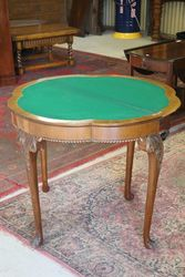Antique Walnut Games Table