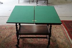 Tea Trolley  Game Table  Barley Twist Legs And Rotating Top