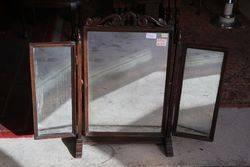 Antique Tri-Fold Mirror  #