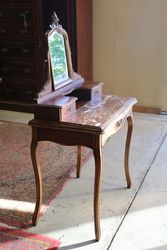 Antique Marble Top +Mirror Back + 3 Drawer Lady Dresser