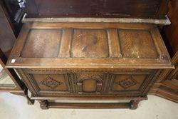 Antique English Carved Oak Coffer