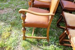 Quality Set Of 8 Oak Dining Chairs C1920