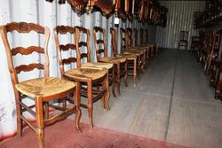 Set Of 12 Early C20th French Dining Chairs