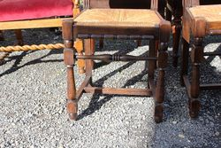 Set Of 6 Well Carved Oak Chairs