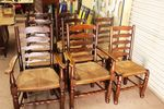 Set Of 8 Ladder Chairs including 2 carvers