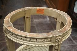 Small Circular Table With Gray Marble Top