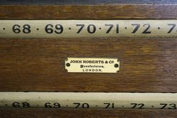 Antique John Roberts and Co London Biliard Pool Scoreboard