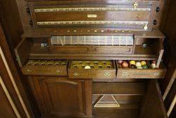 Antique John Roberts and Co London Biliard Pool Scoreboard
