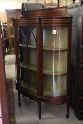 Antique Mahogany Single Door Display Cabinet .#