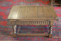 C20th Oak Draw-leaf Coffee Table. #