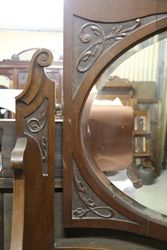 Antique Lady Dresser Mirror Top + Drawer