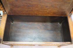 Lovely Small English Oak Monks Bench Circa 1920