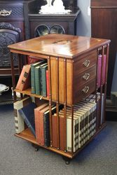 Mahogany Revolving Bookcase With Fine Quality Inlay