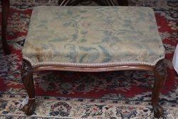 Mid Victorian Walnut Cabriole Leg Stool  #