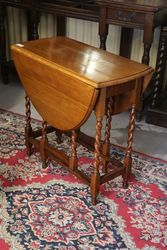 Oak Gate Leg Table C1910 #