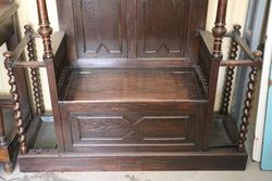 Oak Hall Stand  Hall Seat Combination  English C1900