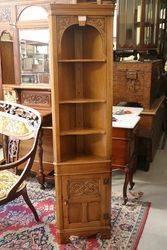 C20th Open Shelf Corner Cabinet. #